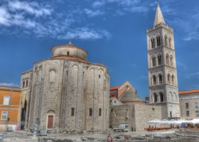 zadar croatia roman church and tower