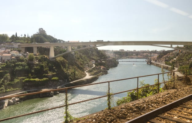 best view I got of Porto... from the train window leaving. I will be back.