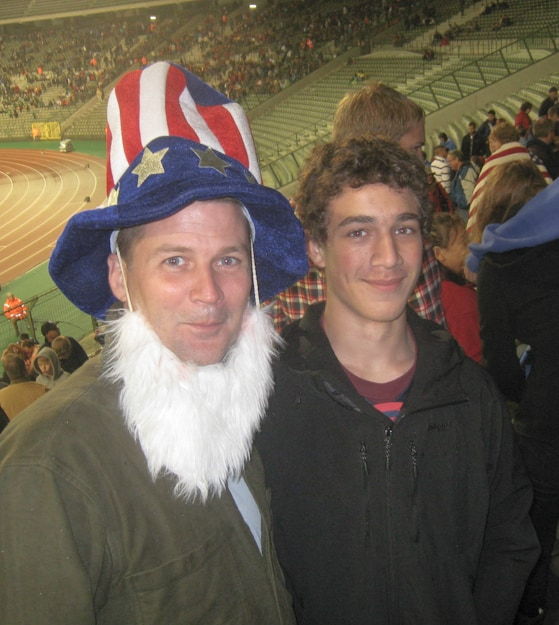 michael hodson in uncle sam outfit