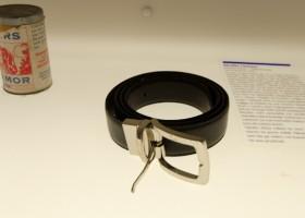 man's belt from museum of broken relationships zagreb croatia