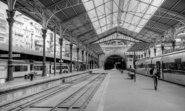 São Bento train station in Porto Portugal