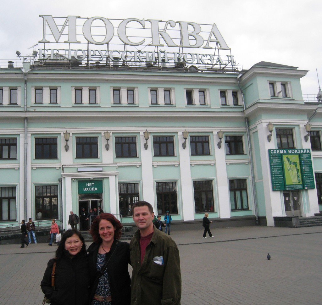 at one of the Moscow train stations, the day before departure
