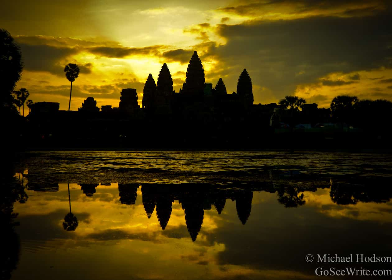 pre sunrise angkor wat temple cambodia
