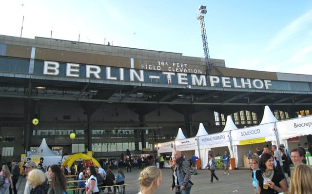 berlin templehof airport  sign