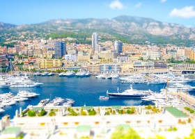 monaco harbor tilt shift