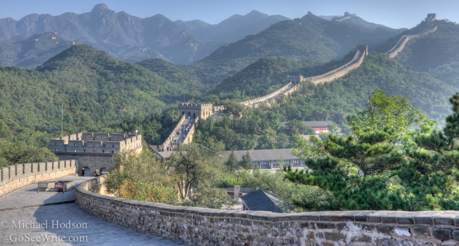 Great Wall of China with no tourists