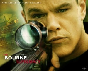 Bourne Supremacy poster matt damon with gun