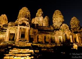 bayon temple at night angkor wat complex siem reap cambodia