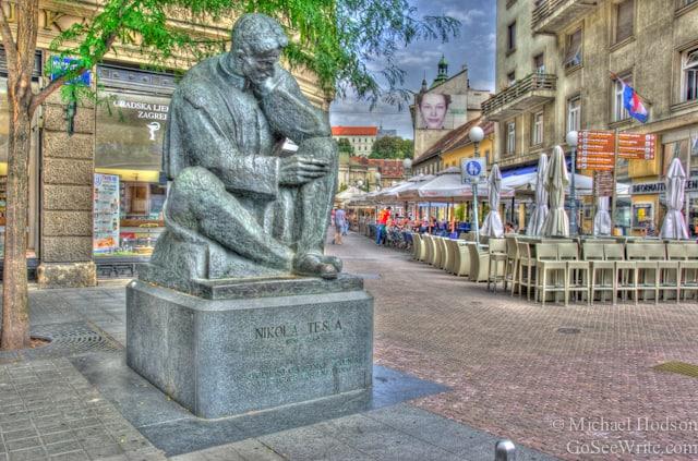 Tesla statue zagreb croatia