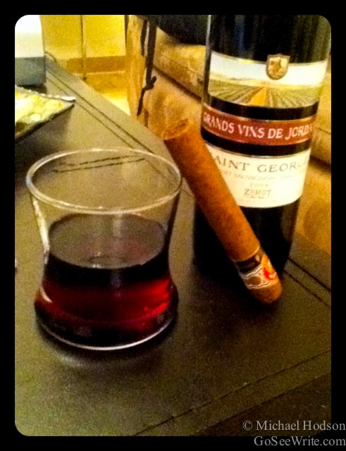 red wine with cigar in jordan