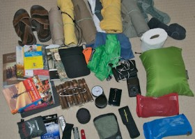 RTW no-planes trip backpack contents