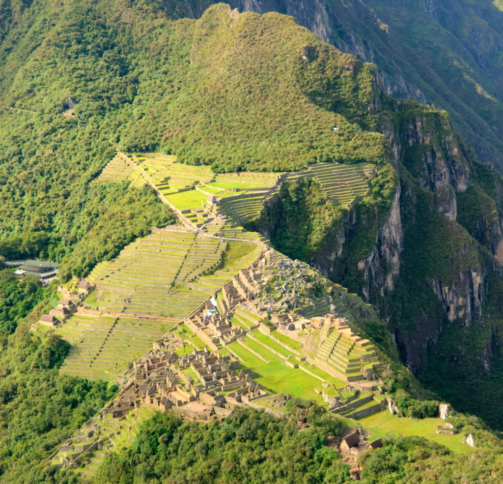 manchu picchu from above