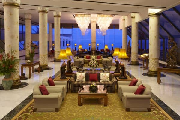 Royal Wing hotel Lobby in pattaya thailand