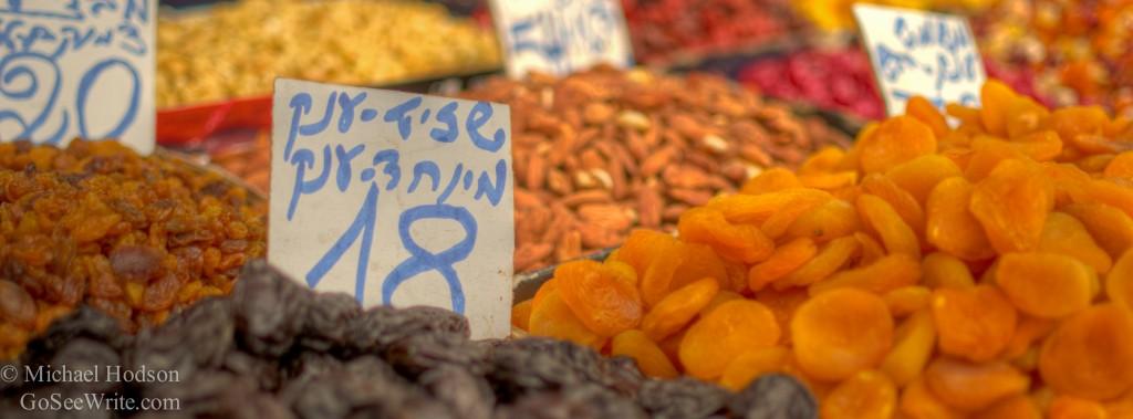 dried oranges raisins jerusalem market