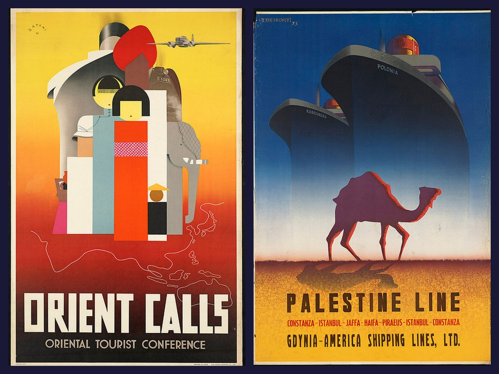 orient and palestine vintage travel posters