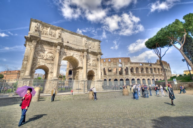 famous arch in rome italy, arch of constantine