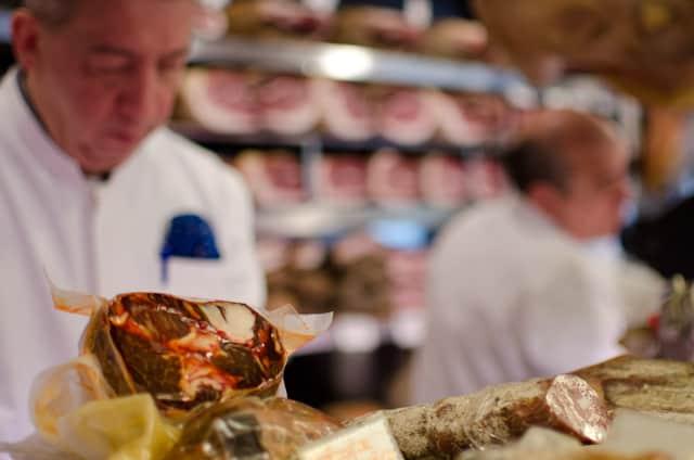 roman butcher working at market