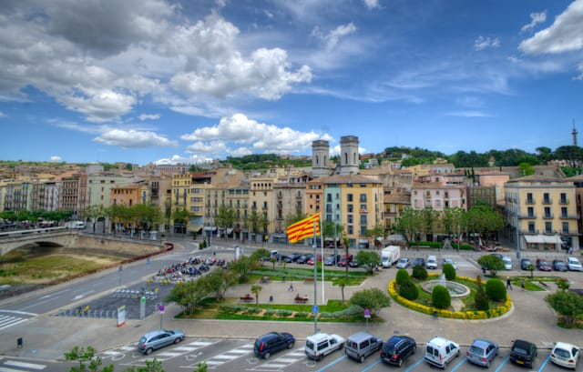 center Girona Spain from above