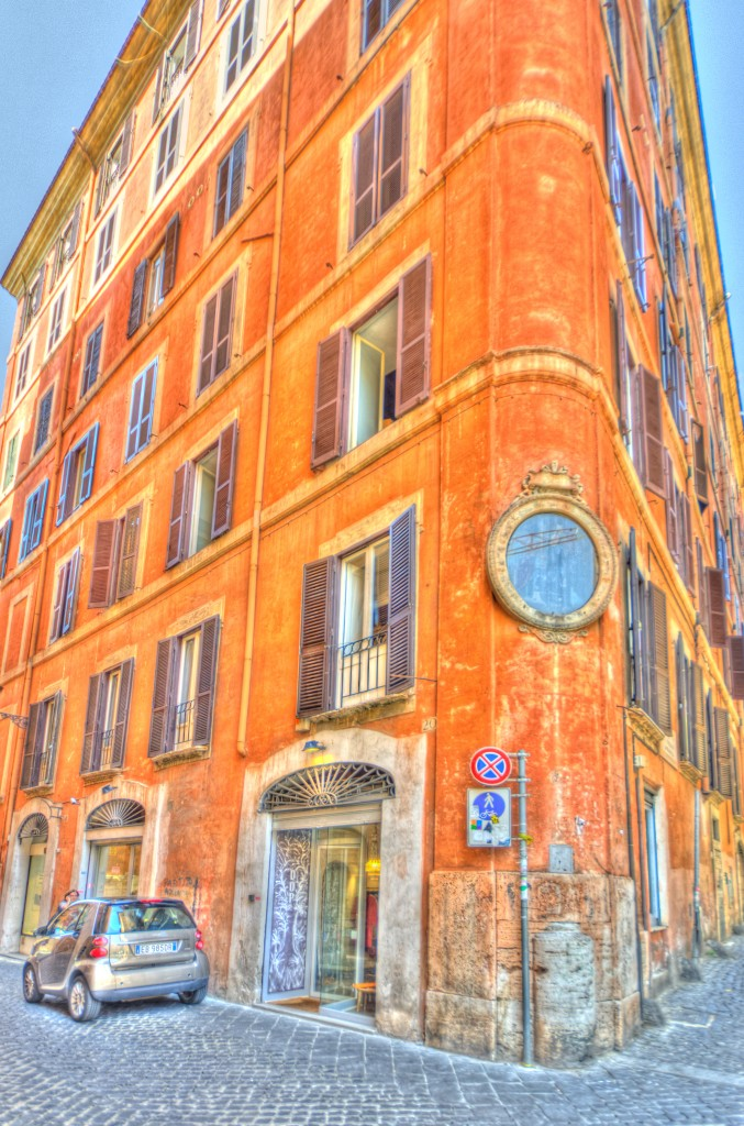 orange and yellow building in rome italy
