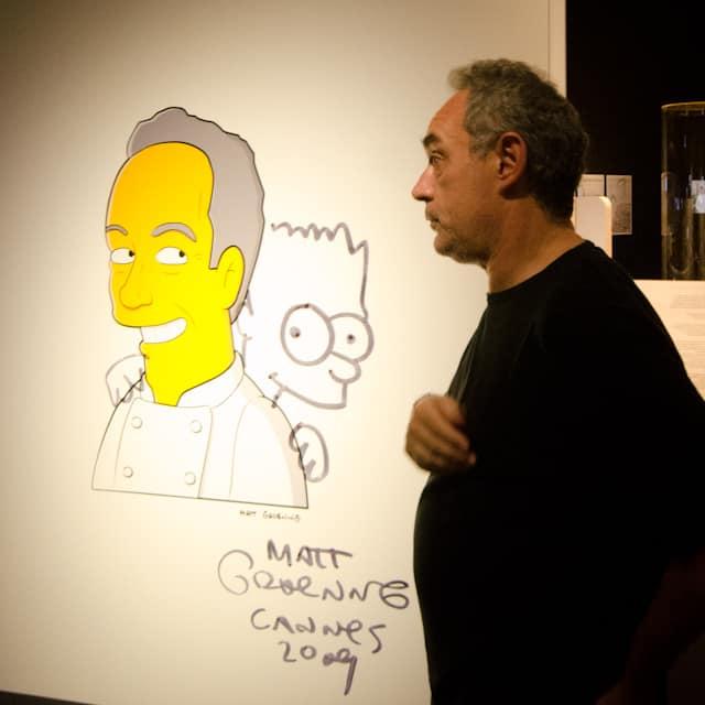 Ferran Adrià with bart simpson