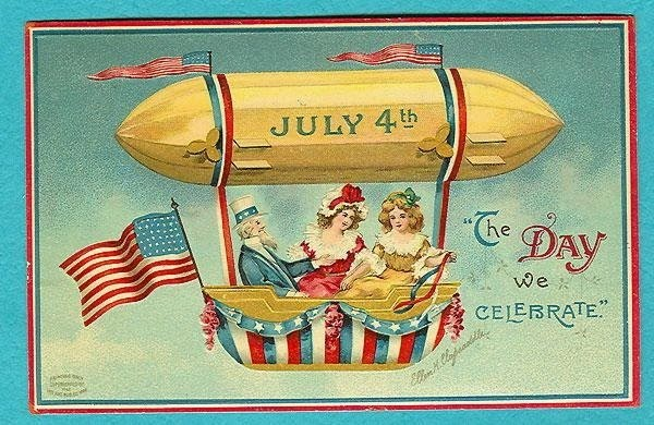 4th of july poster art retro style