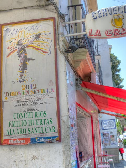 seville bullfight poster