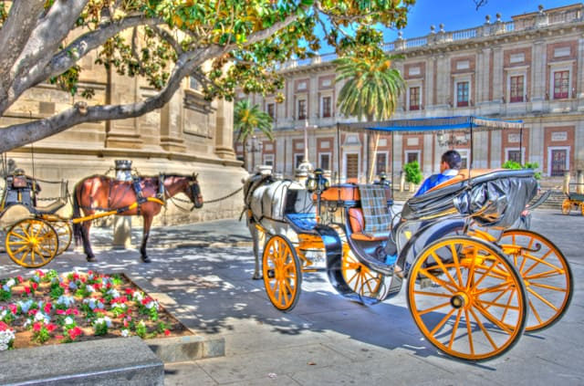seville carriage with horses