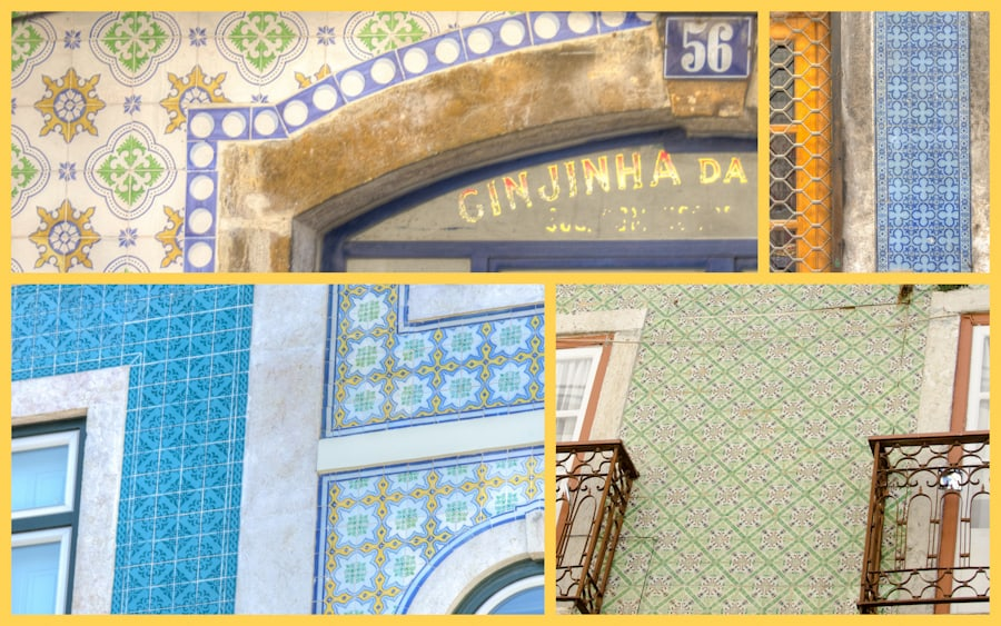 tiled walls in lisbon portugal