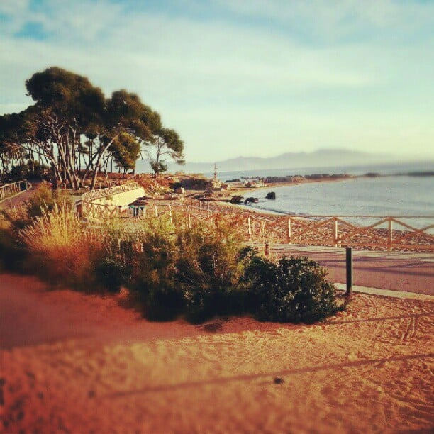 morning beach in costa brava