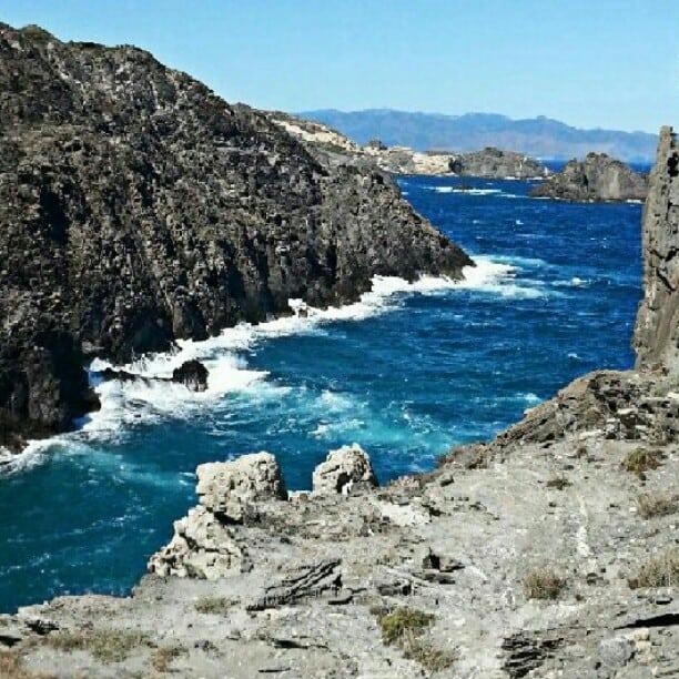 mediterran sea off costa brava spain