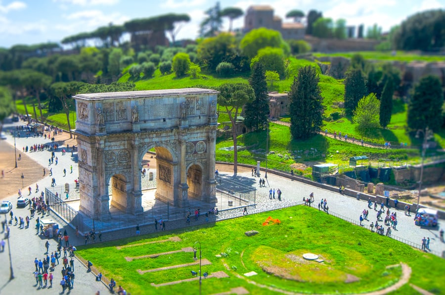 roman things to see and do arch constantine