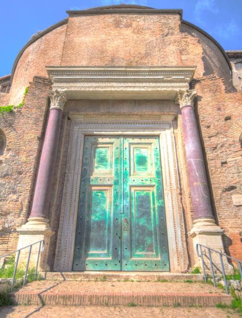 ancient roman door from rome