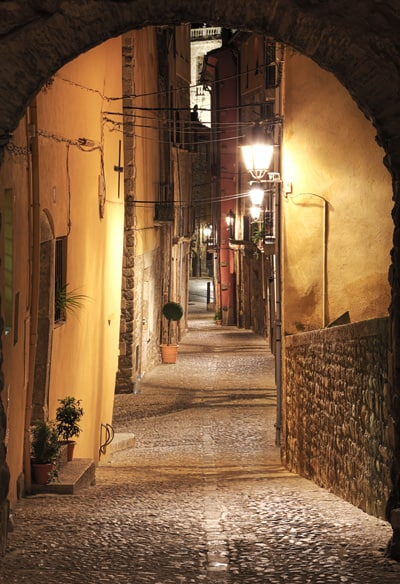 Alley in Besalú, Spain