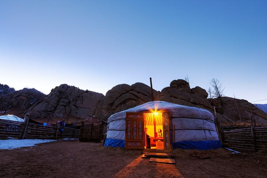Ger in Terelj National Park, Mongolia