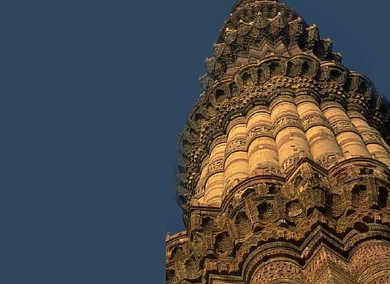 Qutab Minar in delhi closeup