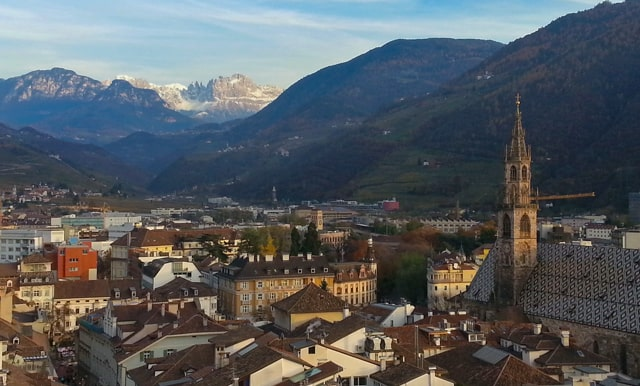 bolzano italy from above