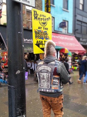 guy with mohawk in camden town