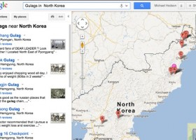 map of gulag prison camps in north korea on google