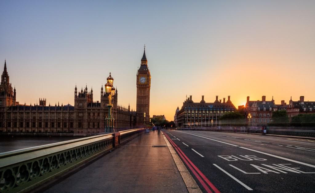 Palace of Westminster at dawn