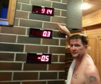 finnish ice lake swimming after sauna