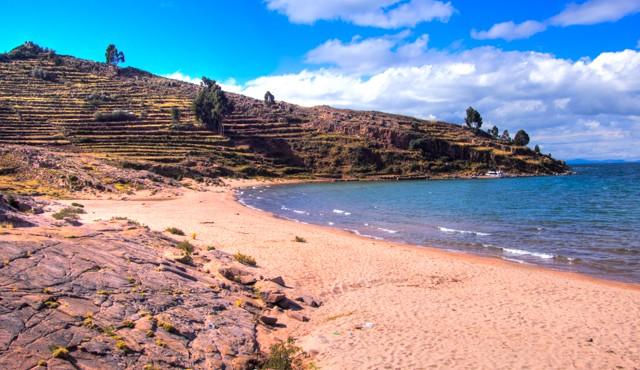 best photos peru beach on island in lake titikaka