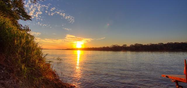 peru amazon sunset