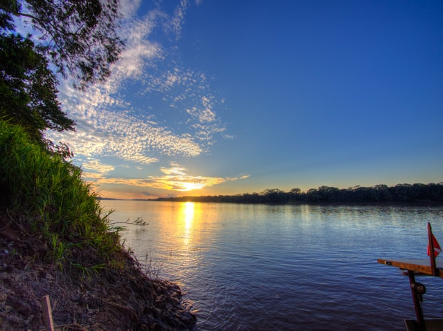 best photos of peru sunset in amazon river basin
