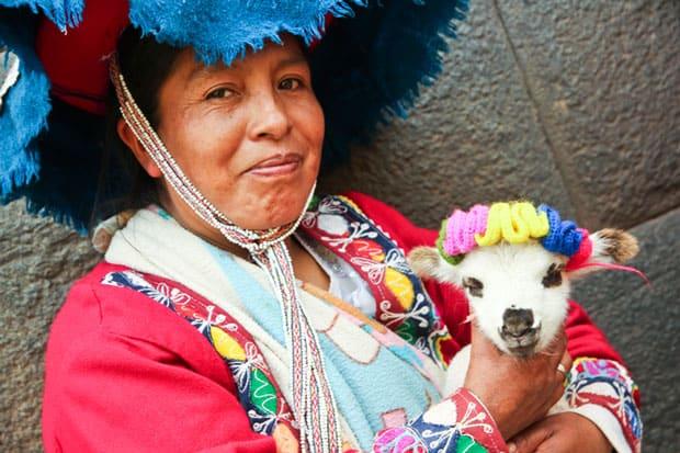 Traditional Woman in Cusco, Peru