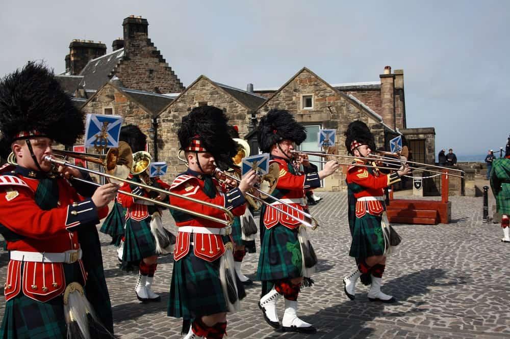 Military parade at Edinburgh Castle