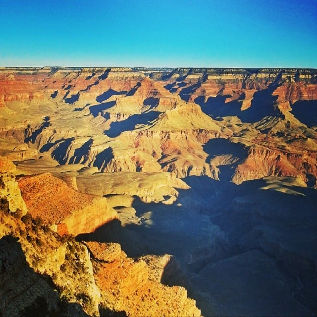 sunrise grand canyon in winter