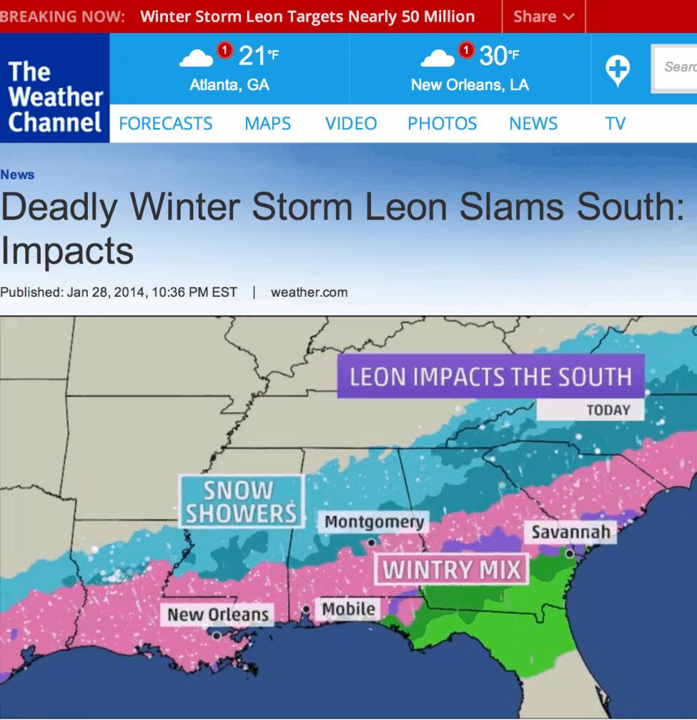 leon storm southern winter storm 2014