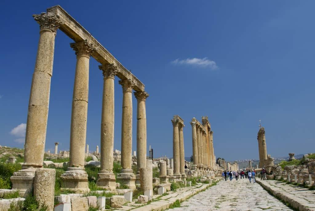 Jeresh jordan roman ruins