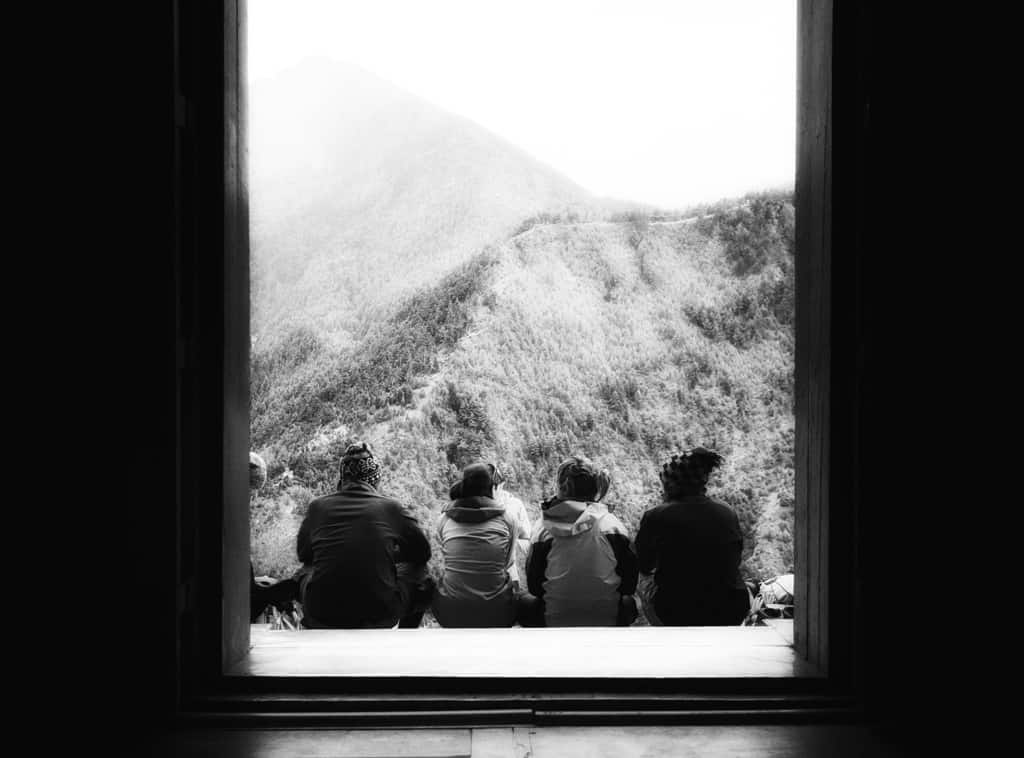 Looking at Mountains in Nepal