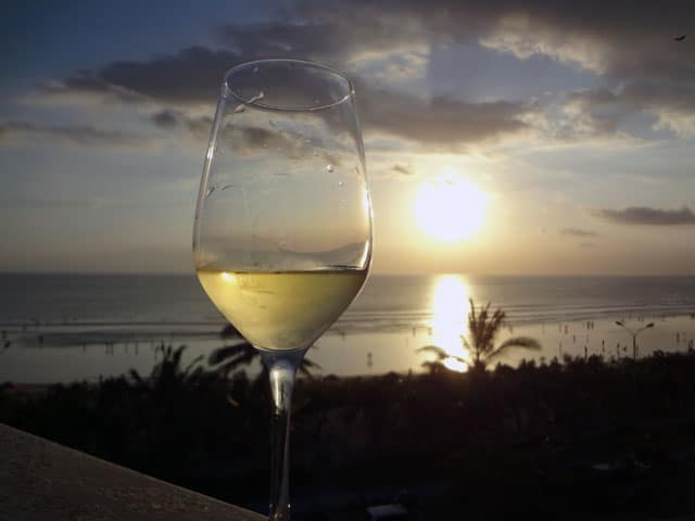 Bali Beaches - Kuta Sunset Wine